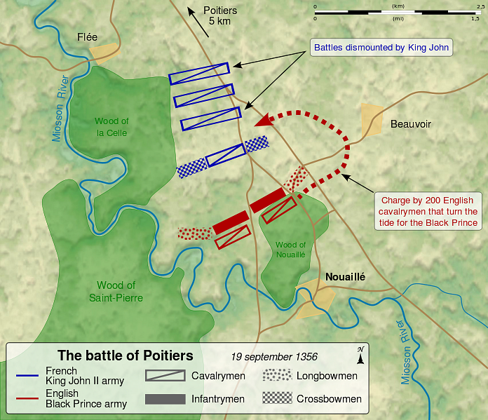 Battle of Poitiers Map