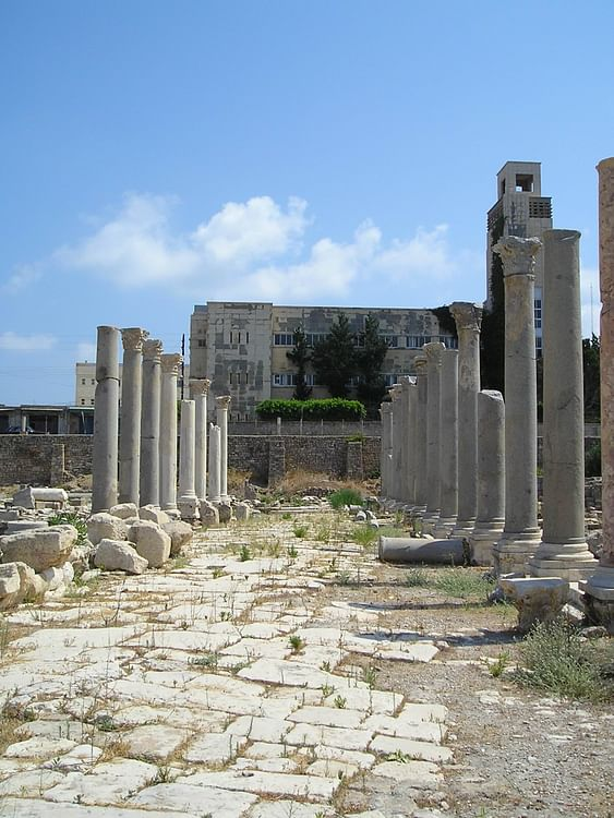 Roman Agora in Tyre (Wikipedia User: Heretiq)
