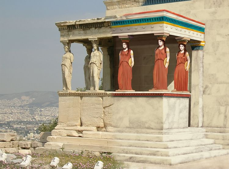 Erechtheion with Original Paintwork Reconstruction