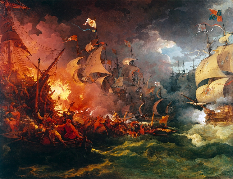 Fireships Ravage the Spanish Armada