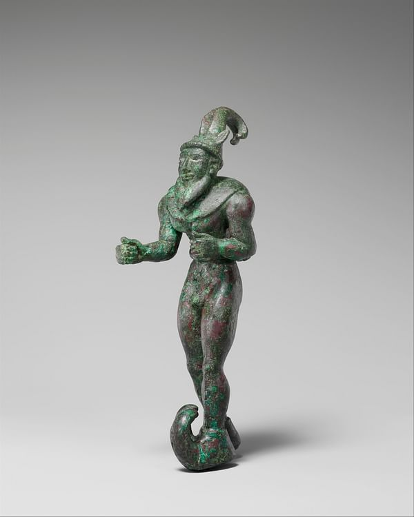 Proto-Elamite Figure with Ibex Horns