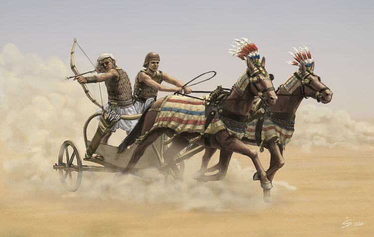 Egyptian War Chariot in Action