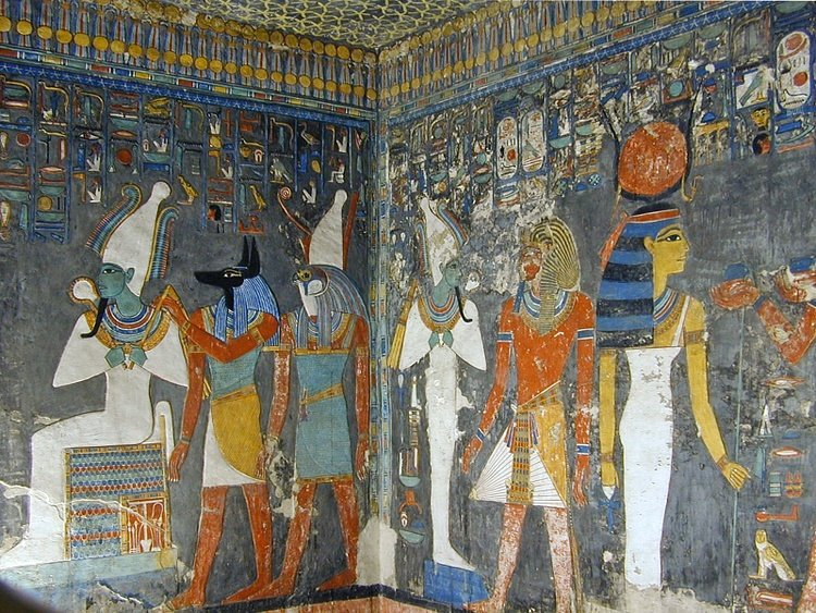 Wall Painting from the Tomb of Horemheb