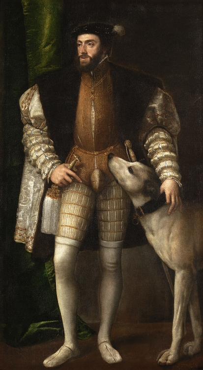 Charles V with a Dog by Titian