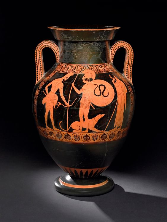 Amphora with Warrior and Dog