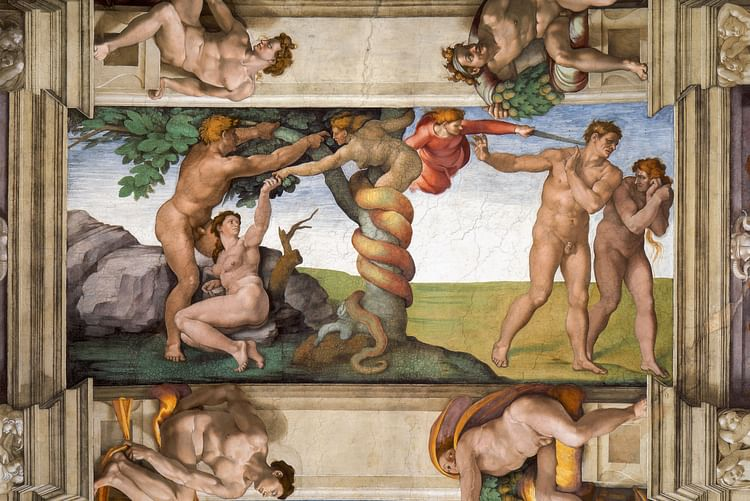 Temptation & Expulsion from Paradise, Sistine Chapel