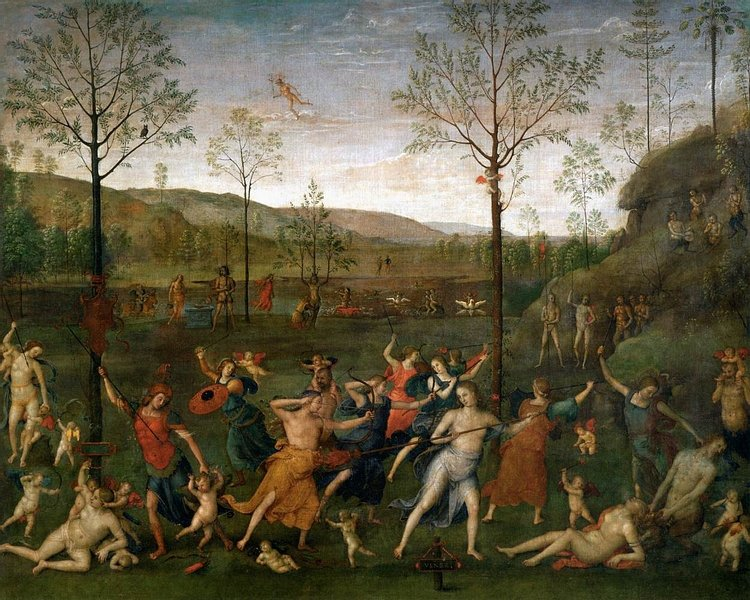 Battle Between Love & Chastity by Perugino