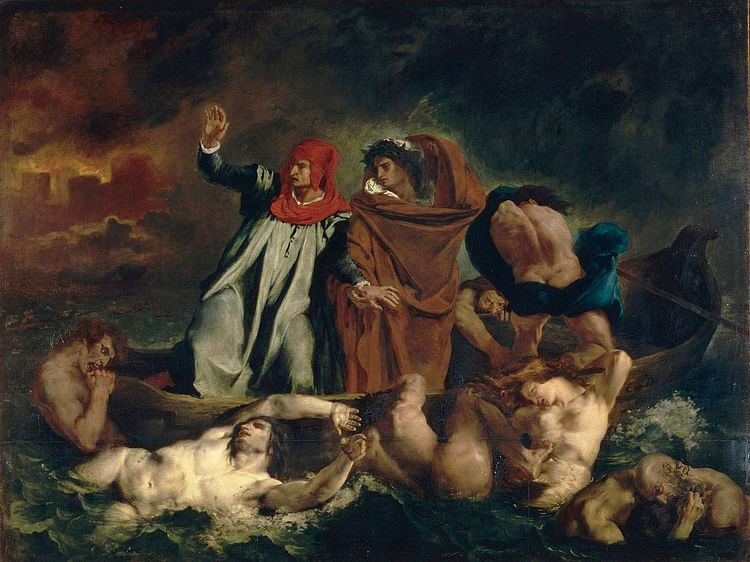 Dante and Virgil in Hell by Delacroix