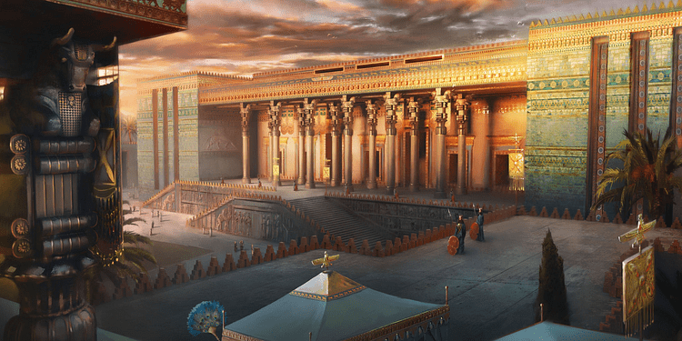 Reconstruction of the Apadana