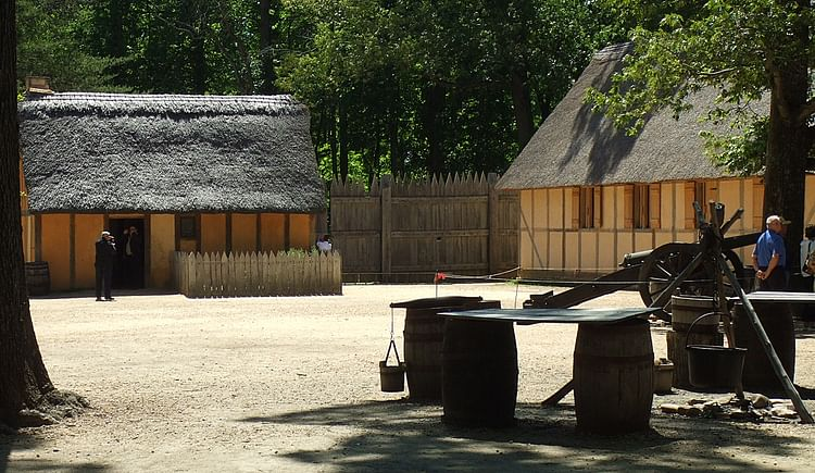 Jamestown Settlement - English Homes