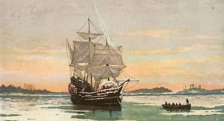 Mayflower in Plymouth Harbor
