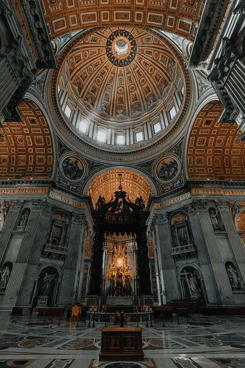 Ceiling of Saint Peter's Basilica, Rome