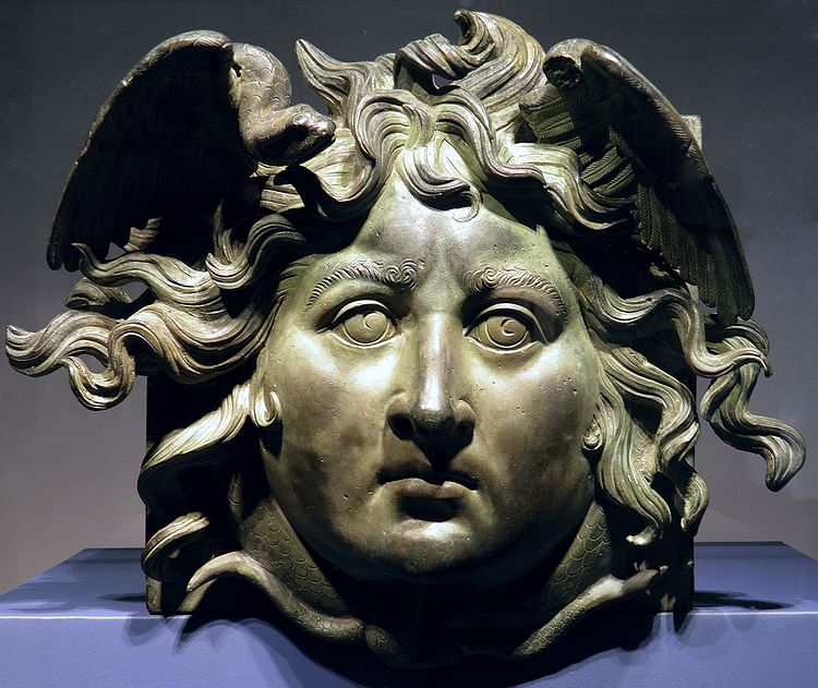 Bronze head of Medusa