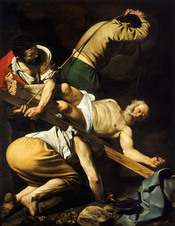 The Crucifixion of Saint Peter by Caravaggio
