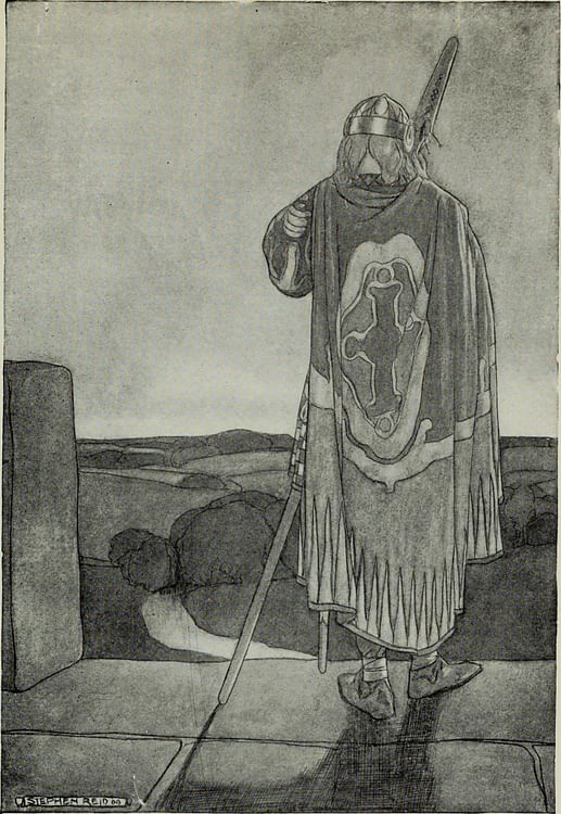 Celtic Warrior with Spear