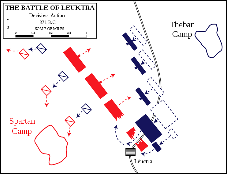 Battle of Leuctra, 371 BCE (Dept. of History, U.S. Military Academy)