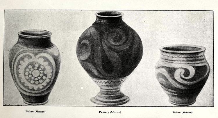 Celtic Pottery Vessels, Marne, France