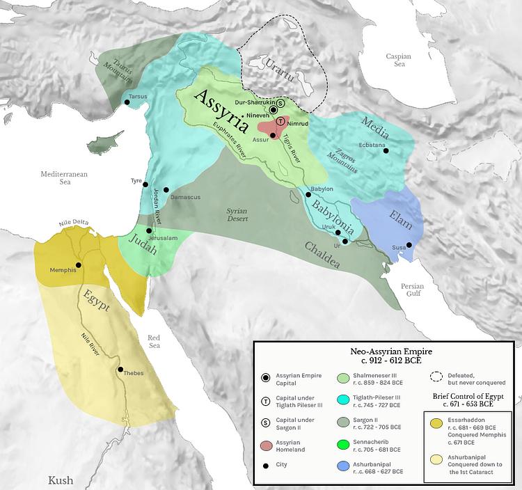 Neo-Assyrian Empire c. 912 - 612 BCE