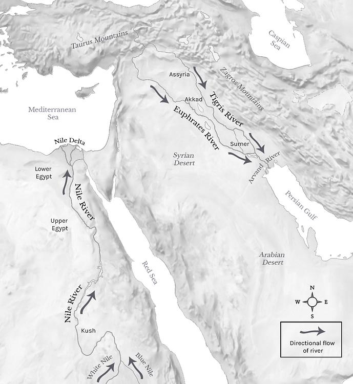 Tigris, Euphrates, & Nile River Flows