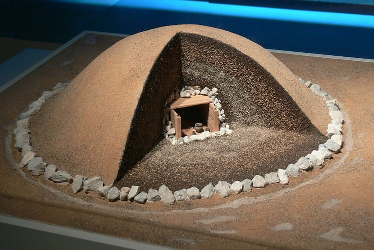 Celtic Burial Mound Reconstruction, Hallstatt