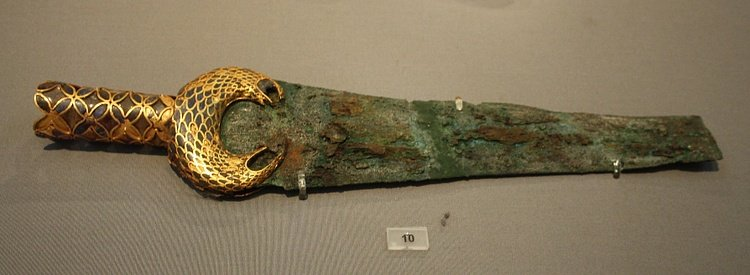 Bronze & Gold Mycenaean Sword