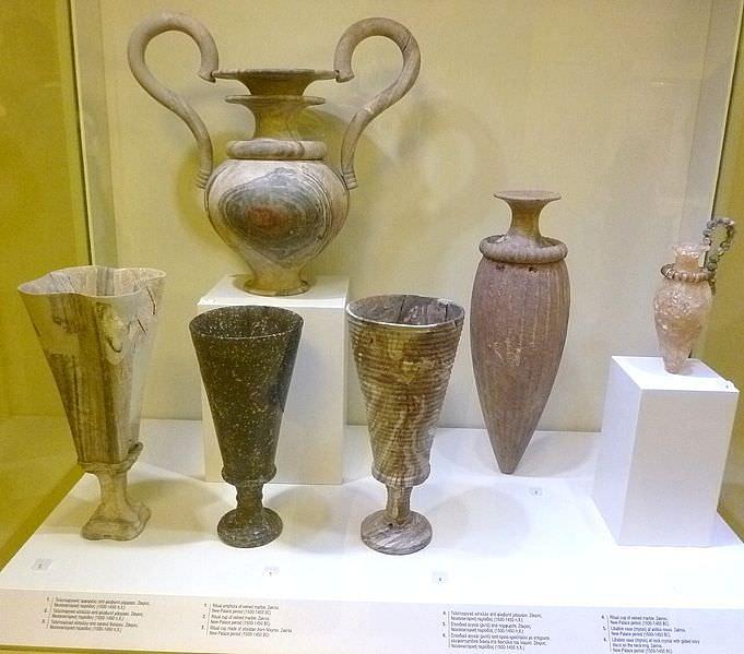 Minoan Stone Vases Illustration Ancient History Encyclopedia