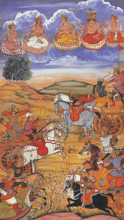 Arjuna During the Battle of Kurukshetra (Sconosciuto)