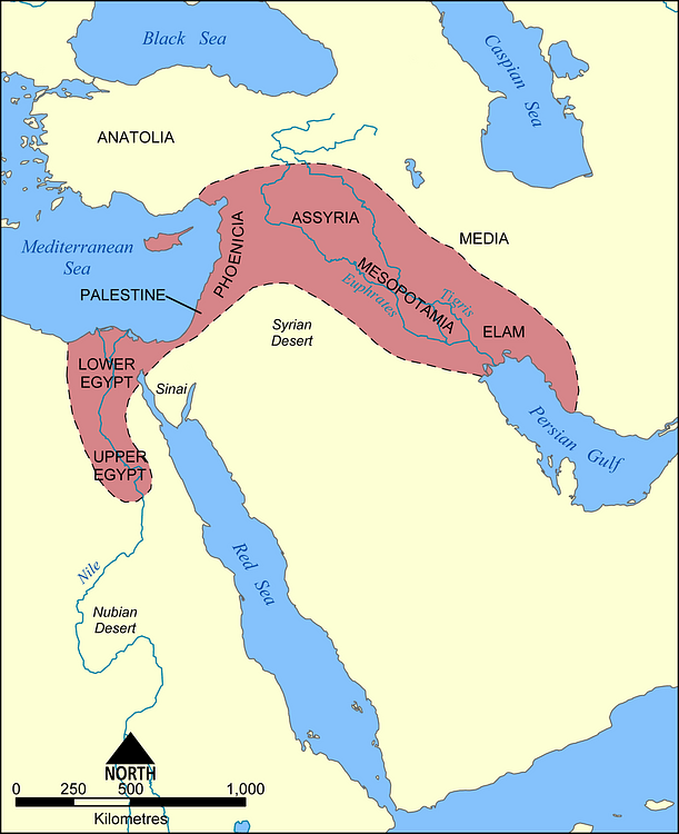 The Fertile Crescent Map Map of the Fertile Crescent (Illustration)   Ancient History  The Fertile Crescent Map