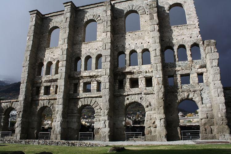 Roman Theatre Façade, Aosta ()