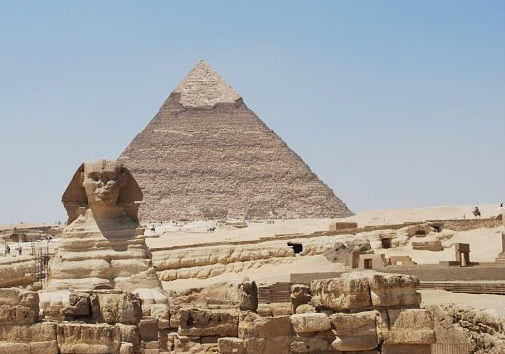 Sphinx and Khephren Pyramid ()