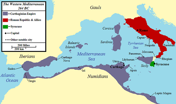 El Mediterráneo occidental 264 a. C. (Jon Platek)