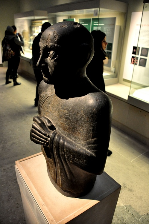 Dolerite Statue of Gudea, ruler of Lagash