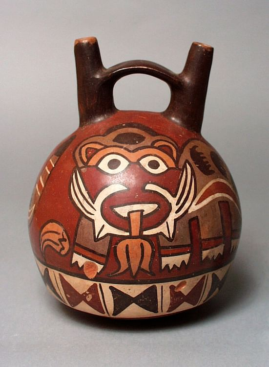 Nazca Double-spouted Pot