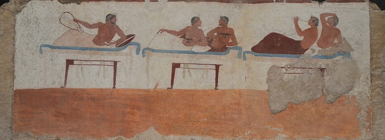Paestum Painting, Scene from a Symposium
