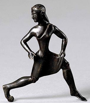 Estatua de bronce de mujer espartana (usuario de Wikipedia: Putinovac)
