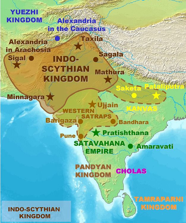 Map of the Indo-Saka Kingdoms