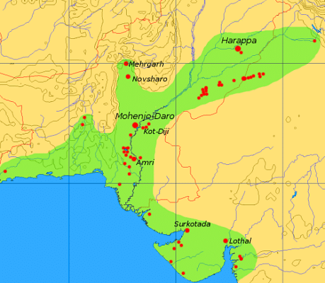 Map of the Indus Valley Civilization (Dbachmann)