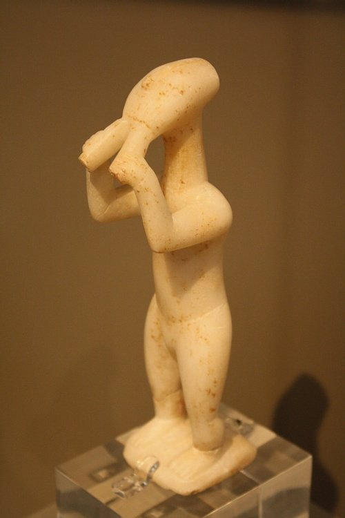 Aulos Player, Cyclades