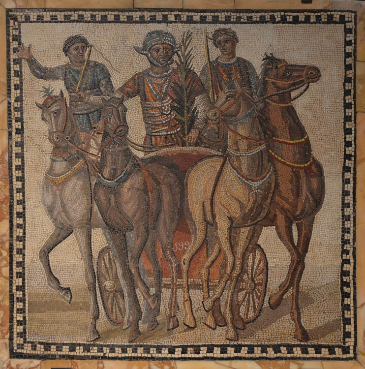 Mosaic with circus scene