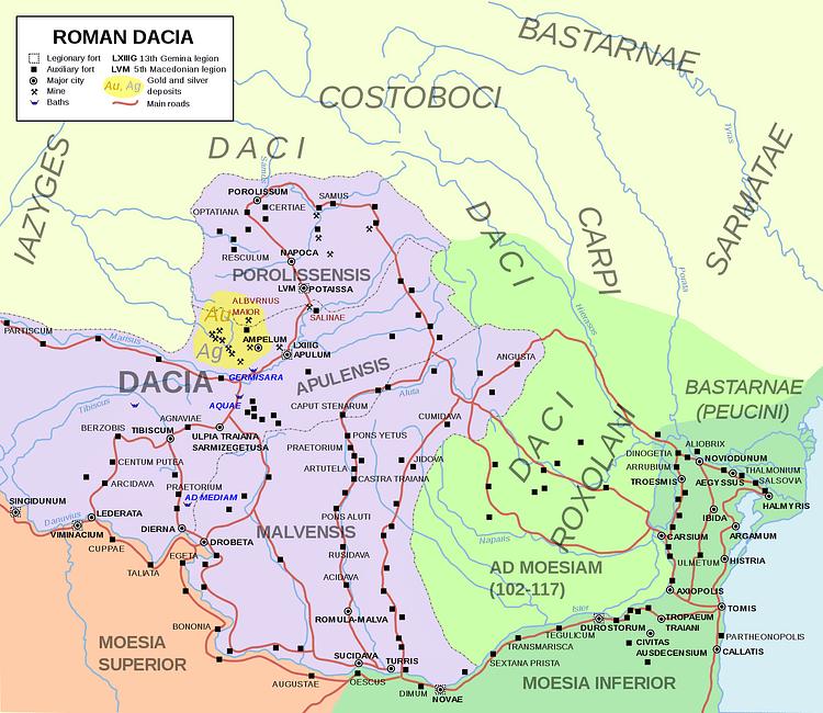Map of Roman Dacia (Andrei nacu)