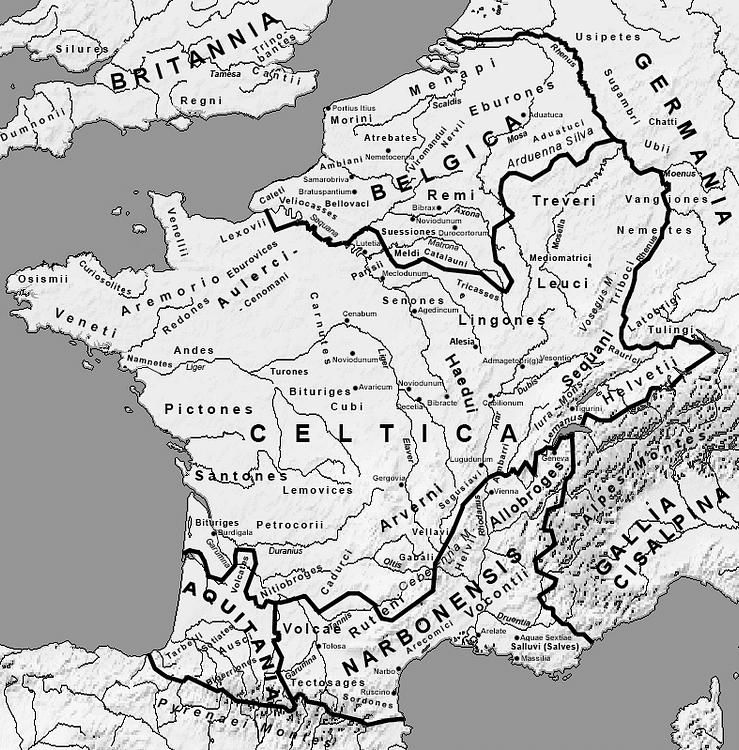 Map of Gaul (Feitscherg)