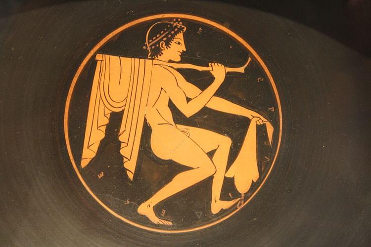 Figura roja Tondo que representa a un joven (Jehosua)