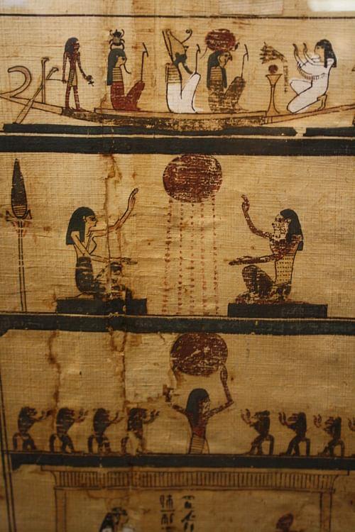 Ancient 10 Card Tarot Spread Mat: Ancient Egyptian Mortuary Rituals