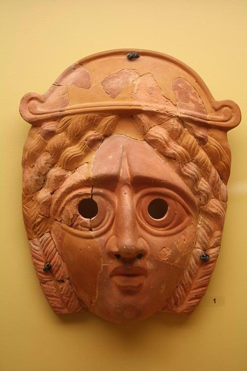 Máscara griega de tragedia ()