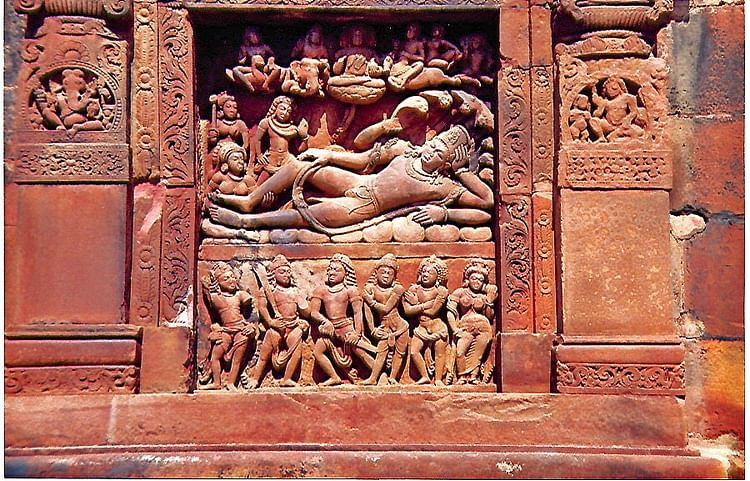 Vishnu Anantasayana Panel, Dashavatara Temple, Deogarh