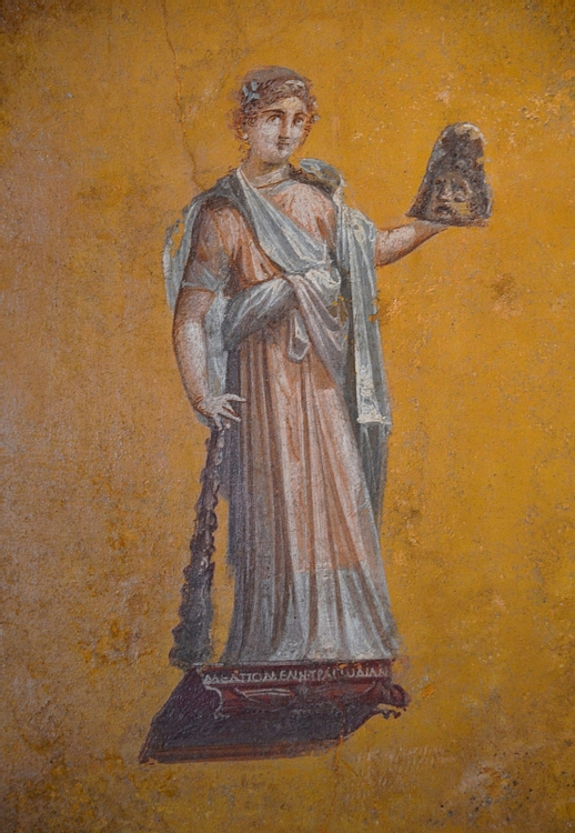 Fresco with Melpomene