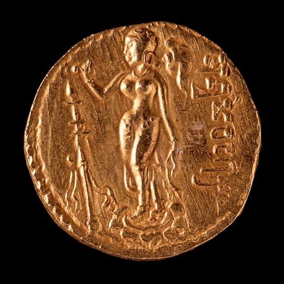 Moneda de oro - Período Gupta (Ashley Van Haeften)