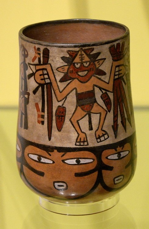 Nazca Vase with Dancing Male