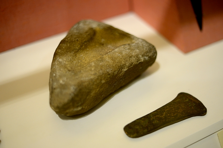 Stone Mould for Axes & Bronze Axe from Ancient Ireland