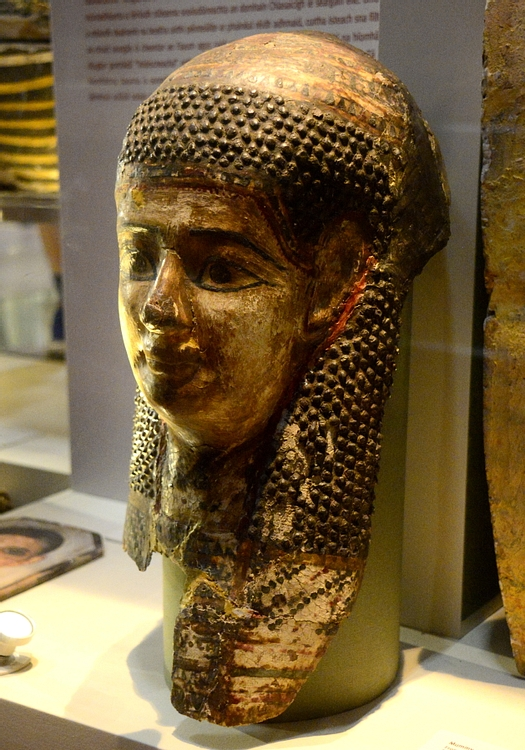 Mummy-mask of Painted & Gilded Cartonnage